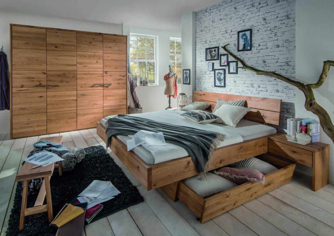 massief houten bed guus met lade